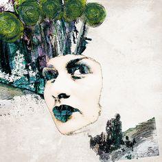 Kunstwerk. Portrait. Artwork. - faceboom hat viele Gesichter