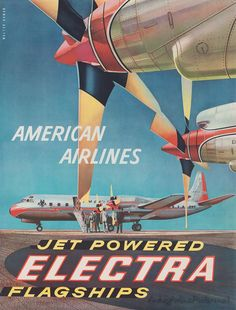 Lockeed Electra.  Love the old advertising from the 30's and 40's