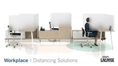 Our workplace distancing solutions provide environments that keep people healthy, safe and productive.  Create healthier workspaces with our soft seating, panel system, acrylic privacy screens, freestanding acrylic screens, fixed acrylic screens, surface lateral acrylic screens, end surface acrylic screens, laminate lateral gallery panels with acrylic screens and more!   #groupelacasse #workplacedistancing #physicaldistancing #staysafe #smartspaces #privacy Contemporary Office Desk, Modern Office Desk, Creative Office Space, Resource Furniture, Furniture Projects, Furniture Plans, Office Furniture Design, Business Furniture, Modern Reception Desk