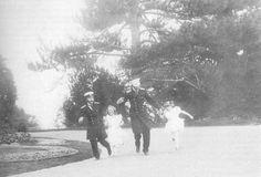 Tsar Nicholas II Runing With His Two Eldest Daughters Olga & Tatiana Nikolaevna