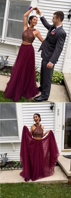 burgundy prom dresses, two piece prom dresses, 2 prom dresses, long prom dresses, elegant prom dresses, prom dresses 2017, cheap prom dresses