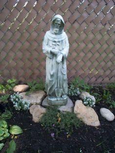 Catholic Saints in the Garden