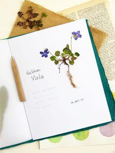 Hast du schon mal ein Herbarium angelegt? Wie und warum du Blumen und Kräuter sammeln und in einem Herbarium aufbewahren solltest und was du beachten musst, erfährst du hier. Flora, Journaling, Bullet Journal, Tableware, Diy, Plant Parts, Old Books, Dinnerware, Caro Diario