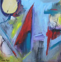 quadro astratto olio su tela dimensioni 60x60