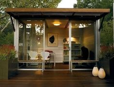 Outside office - love the idea of a home office in a separate area outside.