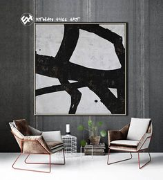 Abstract Painting Black White Abstract Art Large Wall Art image 3 Minimalist Painting, Minimalist Art, Texture Art, Texture Painting, Black And White Abstract, Black White, Wooden Bar, Large Wall Art, Contemporary Paintings