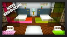 Minecraft - How To Make A Kids Bedroom! Today I'm going to show you how to make a nice and easy Minecraft Kids Bedroom. This Minecraft Kids Bedroom will look. Boys Minecraft Bedroom, Minecraft Room Decor, Easy Minecraft Houses, Minecraft Decorations, Minecraft Blueprints, Minecraft Crafts, Minecraft Designs, Minecraft Furniture, Minecraft Stuff