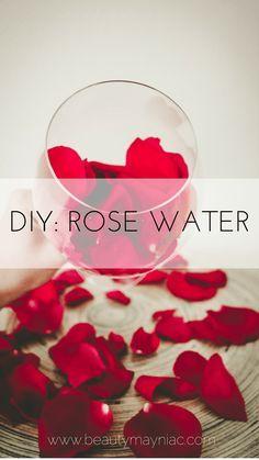 DIY- ROSE WATER. Make rose water at home for skin care