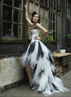 Sexy Black White High Low Tulle Quinceanera Prom Dresses Formal Ball Gown Size | eBay