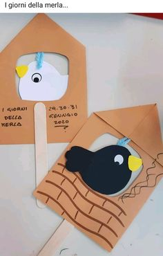 Winter Crafts For Kids, Paper Crafts For Kids, Diy For Kids, Diy And Crafts, Origami, Birds, School, Activities, Winter Time