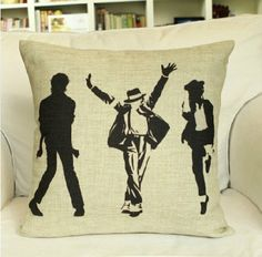 Michael Jackson Pillow Linen Pillow  Pillow cover by SweetyFairy, $19.90