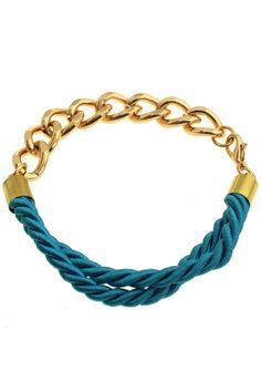 ROMWE | Rope Chunky Golden Chain Bracelet, The Latest Street Fashion