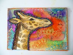 Oops, I Craft My Pants: Bright Giraffe ATC