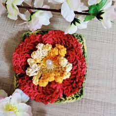 Flor de Crochê Didi – Barbante Barroco Brilho