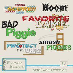 Mad Tweets Word Art - $1.49 : Digital Scrapbooking Studio