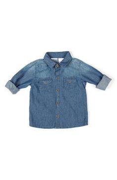 KARDASHIAN KIDS Stonewash Denim Shirt (Baby Boys) available at #Nordstrom