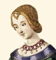 Laure de Noves. Middle Ages - Burgundy Fashion