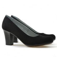 Pantofi casual / eleganti dama 643 negru velur Lei, Peeps, Random Stuff, Peep Toe, Casual, Shoes, Fashion, Random Things, Moda