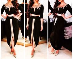 Indo western outfit Western Dresses, Western Outfits, Indian Dresses, Indian Outfits, Mehendi Outfits, Indian Look, Indian Wear, Party Kleidung, Indian Bridal Fashion