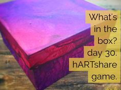 """Day 30 """"What's in the Box?"""" hARTshare FB Game. Come play with us at…"""