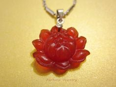 Red Jade Gemstone Auspicious Lotus Flower Pendant Necklace -Jade Jewelry by Fortune Jewelry & Healing Beauty, http://www.amazon.com/dp/B00ABIG4EM/ref=cm_sw_r_pi_dp_zSSRqb0A4WXCG