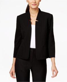 Tahari ASL Inverted -Collar Blazer - Jackets & Blazers - Women - Macy's