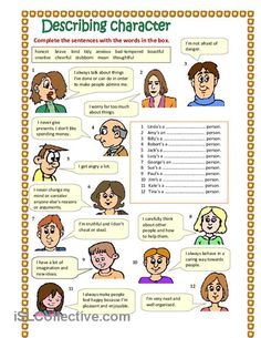 Describing character (part 3) worksheet - Free ESL printable worksheets made by teachers