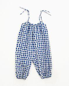 Image of bubble jumpsuit- blueberry