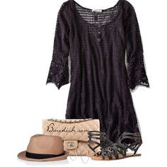 Lace Dress by wulanizer on Polyvore featuring American Eagle Outfitters, Volcom, Michael Kors, Athra Luxe and Chanel