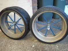 Making Wide Bike Wheel Hubs and Joining Them to Car Rims! : 6 Steps (with Pictures) - Instructables Three Wheel Bicycle, Bike Wheel, Bike Chopper, Rims For Cars, Car Rims, Gas Powered Bicycle, Homemade Go Kart, Trike Bicycle, Motorised Bike