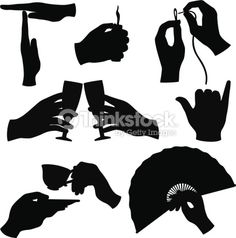 Vector Art : Hand silhouettes collection