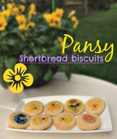 Dancing Dandelions: Mothers Day Recipe: Pansy shortbread biscuits