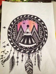 Scaccia sogni art tattoo disegno