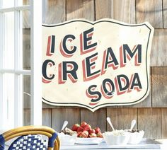 Pottery Barn Ice Cream Soda Sign - New in Box in Plaques & Signs | eBay