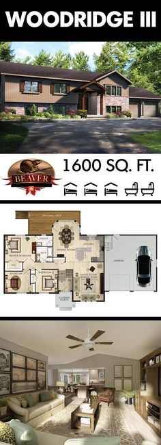 This 3 #bedroom raised bungalow, with open concept and lots of natural light, makes the Woodridge III the perfect #family home. #BeaverHomesAndCottages