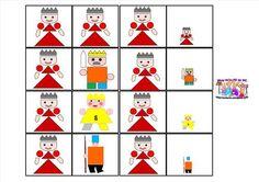 Le tout petit roi et la très grande princesse - Domino des personnages
