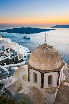 Thira, Santorini | Greece (by Javier DG) Beautiful, i need to go back one day:)