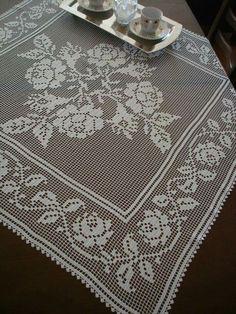 Crochet Patterns Filet, Vintage Crochet Patterns, Crochet Borders, Doily Patterns, Crochet Motif, Crochet Table Runner, Crochet Tablecloth, Thread Crochet, Crochet Stitches