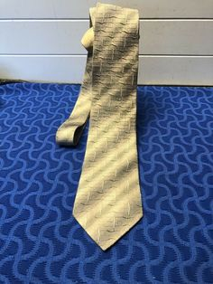 Emilio Ponti Silk Necktie Handmade Silver Blue Textured Wave Pattern 58 Milano #ties (ebay link) Wave Pattern, Jacquard Weave, Handmade Silver, Ties, Blue, Ebay, Neck Ties, Tie, Handmade Sterling Silver