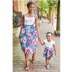 I love these bold African print mommy and me skirts from Diyanu.com