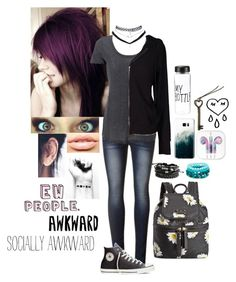 """Every new school I go to I feel like I keep getting more and more socially awkward..."" by just-hopeless-and-broken ❤ liked on Polyvore featuring Converse, Kate Spade, Wet Seal, MDMflow, Velvet by Graham & Spencer, Casetify and Mona Mara"