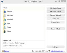"""Easy Way to Customize the System Folders """"Computer"""" in Windows 7 and 8 and """"This PC"""" in Windows 8.1"""