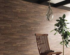 Wallpaper vintage brown wood bricks pattern by by WallDecalSticker