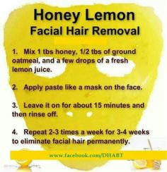 Get rid of unwanted hair everywhere! (Would be interesting to see if this little trick works. Lol, would be nice!)Hair removal: Get rid of unwanted hair anywhere! (Would be interesting to see if this little Beauty Care, Beauty Skin, Natural Facial Hair Removal, Lemon Facial, Unwanted Hair, Unwanted Facial, Tips Belleza, Beauty Recipe, Belleza Natural