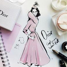 @olgadubrovina's #Paris inspiration (pic by Megan Hess)