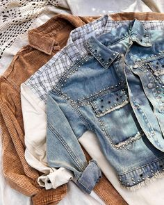 """Stitch & Feather on Instagram: """"It's all about the details 🤍 which jacket is your favorite? 👇🏽 #StitchandFeather"""" Hockey Outfits, Denim Shorts, Jackets, Women, Fashion, Down Jackets, Moda, Fashion Styles, Fashion Illustrations"""