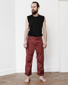 63c8796c Yogabyxa Now Trouser Long, Red - Ann Ringstrand