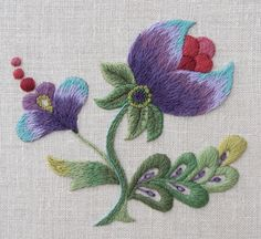 Crewel Embroidery Kit - 'Purple Grace' (45.00 AUD) by FineStitchStudio