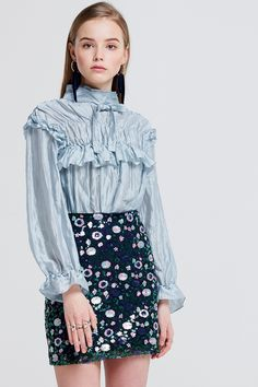 1150e683a3f Joann Layered High Neck Blouse Discover the latest fashion trends online at  storets.com. Новая МодаЖенская ...