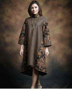 Batik Blazer, Blouse Batik, Batik Dress, Blouse Dress, Dress Batik Kombinasi, Batik Kebaya, Dress Pesta, Kurti Embroidery Design, Batik Fashion